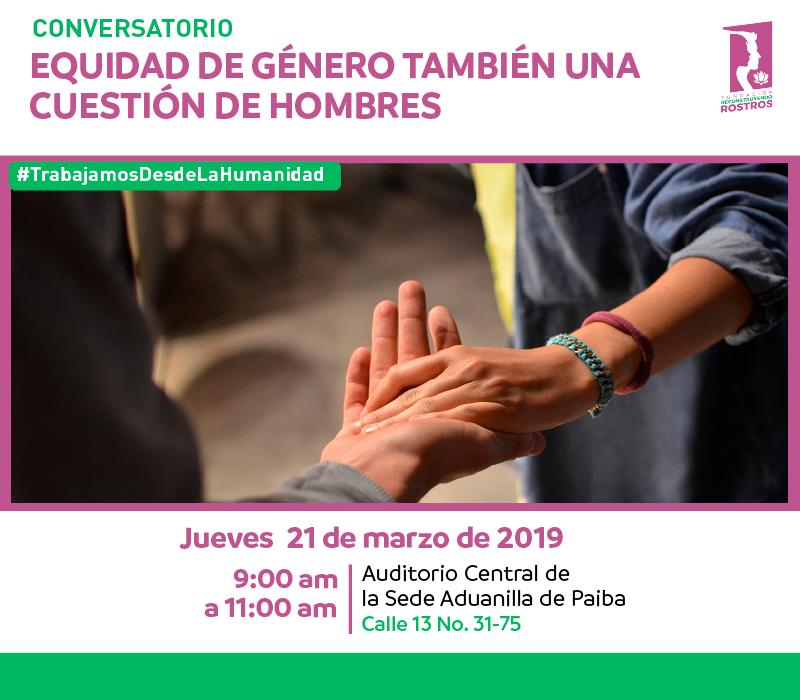 """Conversatorio """"Equidad de género: también cuestión de hombres"""""""