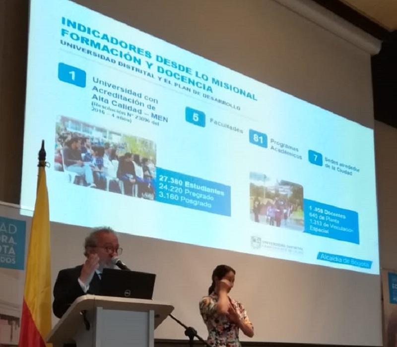 U.Distrital rindió cuentas en el sector educativo de Bogotá