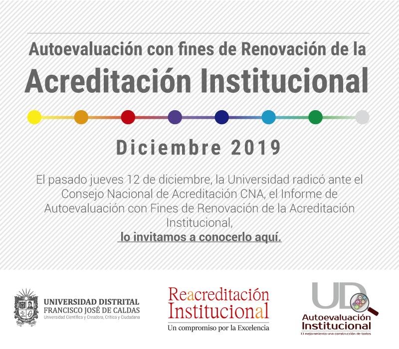 Banner radicación documento de autoevaluación institucional
